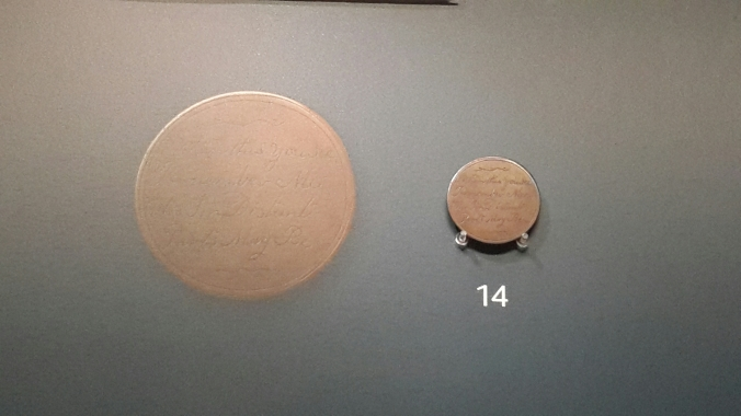 Australian convict's love token (from approximately 1800) (Seen at Ashmolean Museum, Oxford. UK)